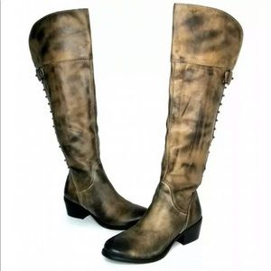 Vince Camuto Bilco Distressed Brown Riding Boots